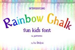 Rainbow Chalk fun kids font Product Image 1