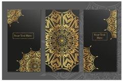 Set of gold mandalas. Lace pattern. Product Image 6