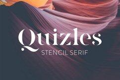 Quizles - Stencil Serif Font Product Image 1