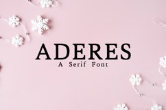 Aderes Serif Font Family Product Image 1