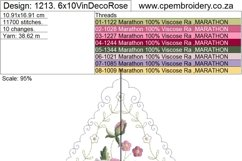 Vintage Antique Floral Decorative Single Rose Product Image 2