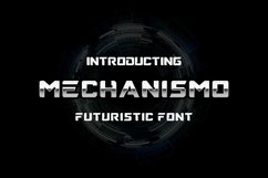 Mechanismo - a Techno Display Font Product Image 1