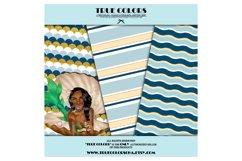 African American Mermaid Digital Paper Black Beautiful Product Image 3