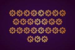 Flower Mandala Monogram Font Product Image 4