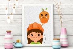 Halloween Balloons clipart. Digital Halloween Balloon Product Image 2