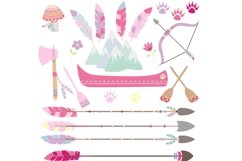 Girls Tribal Animals Clipart Product Image 2