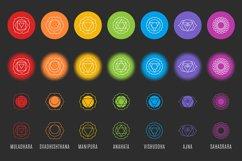 Chakra Symbols and Patterns Vector Product Image 3