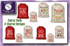 Santa Sack digital bundle of 4 designs - SVG, PNG & PDF Product Image 4