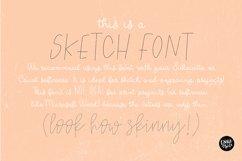 """""""SAHARA SKETCH"""" Sketch Font - Single Line/Hairline Font Product Image 6"""