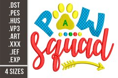 Paw Squad|Dogs design embroidery Product Image 1