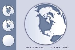 Earth, Svg files for cricut, Layered Earthsvg, 3d svg Product Image 1