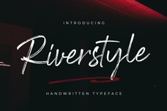 Riverstyle Font Product Image 1