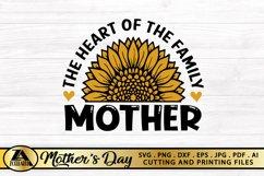 Mothers Day SVG PNG EPS DXF MOTHER SVG Mom Sunflower SVG Product Image 6