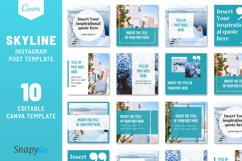 Skyline Instagram Canva Template Product Image 1