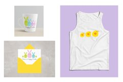 Cute Easter Bunny & Chick Graphics Product Image 2