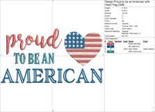 Proud To Be An American 4th of July Embroidery File Product Image 4