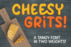 Cheesy Grits - a tangy font in 2 weights! Product Image 1