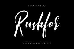 Rushfor - Clean Brush Script Product Image 1
