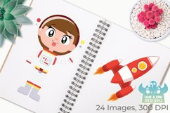 Space Astronauts Clipart, Instant Download Vector Art Product Image 3