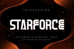 Starforce | Futuristic Display Typeface Product Image 1