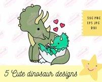 Baby Dinosaur SVG - SVG Files for Cricut, Cute Tshirt Design Product Image 2