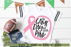 On Game Day We Wear Pink Football / Breast Cancer Awareness Product Image 1