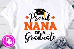 Proud Nana of a Graduate svg Grad cap Family Graduation Png Product Image 1