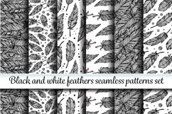 Black and white seamless patterns set Product Image 1