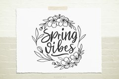 Spring vibes flower wreath SVG, Cutting file, Decal Product Image 1