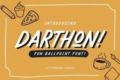 Darthon! - Fun Ballpoint Typeface Product Image 2