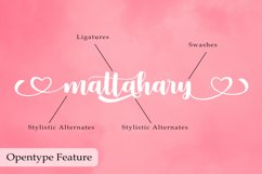 Mattahary | A Bold Calligraphy Font Product Image 3