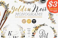 6 Golden Noir Wedding Monograms IX Product Image 1