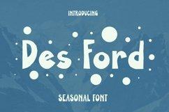 Web Font DES FORD Font Product Image 1