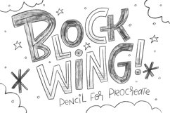 Blockwing Pencils for Procreate Product Image 1