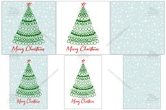 Merry Christmas card with Christmas tree SVG.PNG.JPG.EPS10 Product Image 2