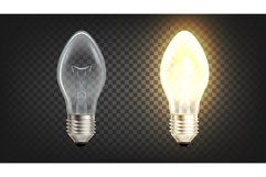 Electrical Glowing Incandescent Light Globe Vector Product Image 1