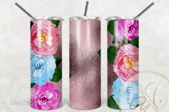 Flowers 20 oz Skinny Tumbler Sublimation / Rose Gold FOIL Product Image 2
