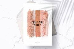 Terracotta Brush Stroke Clipart, Brown Watercolor Brush, PNG Product Image 5