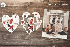 Puzzle Jigsaw SVG Templates Bundle - Classic, Heart, Unusual Product Image 6