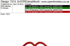 Vampy Mouth Applique Design Product Image 5
