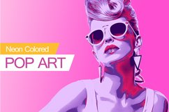 Neon Colored Pop Art PS Action Product Image 1