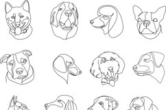 16 Dogs line drawings. Dog breeds Product Image 6