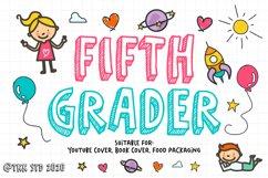 Fifth Grader - Kids Font Product Image 1