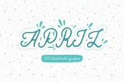 April—handwritten font Product Image 1