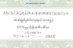 Miss Polly, romantic modern calligraphy script Product Image 2