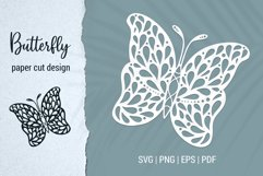 Free Butterfly Paper Cut Design Bundle for Cricut and Silhouette Product Image 6