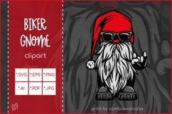 Gnome SVG, Cool Biker Gnome, Devil's Horn Rock On Hand Sign Product Image 1