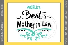 Mother's Day SVG, World's Best Mother in Law Product Image 1