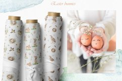 Easter bunnies watercolor Product Image 13