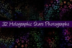32 Holographic Stars Photography Backgrounds Product Image 1
